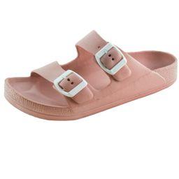 Women's Lightweight Comfort Soft Slides EVA Adjustable Double Buckle Flat Sandals (FREE SHIPPING) | Walmart (US)