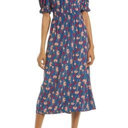 Floral Lace Midi Dress | Nordstrom