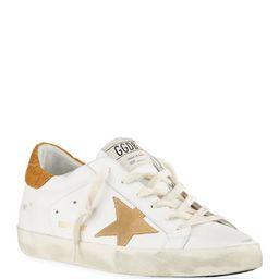 Golden Goose Superstar Suede/Leather Croco-Heel Court Sneakers   Neiman Marcus