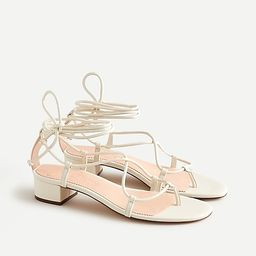 Leather low-heel lace-up sandals   J.Crew US