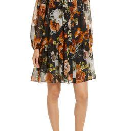 Floral Drop Waist Long Sleeve Dress | Nordstrom