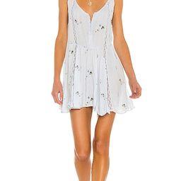Give A Little Mini Slip Dress in Bluebird Combo | Revolve Clothing (Global)