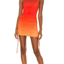 Mesh Cinch Mini Dress in Lava Flow Ombre | Revolve Clothing (Global)