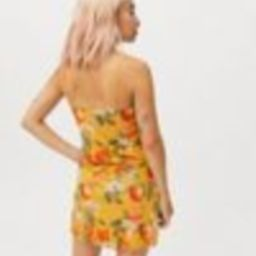 UO Elodie Printed Mesh Mini Dress | Urban Outfitters (US and RoW)