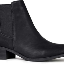 Qupid Repeat Booties   Chelsea Ankle Boots for Women with Low Heel   Amazon (US)