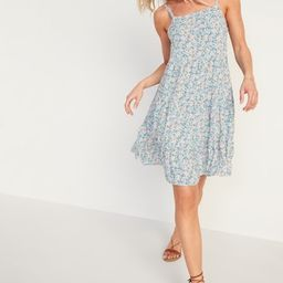 Sleeveless Tiered Floral-Print Swing Dress for Women   Old Navy (US)