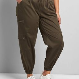 Soft Pull-On Relaxed Ankle Pant - Cargo | Lane Bryant (US)