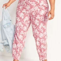 High-Waisted Tie-Dyed Plus-Size Linen-Blend Wide-Leg Pants | Old Navy (US)