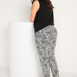 High-Waisted Printed Linen-Blend Pants for Women | Old Navy (US)
