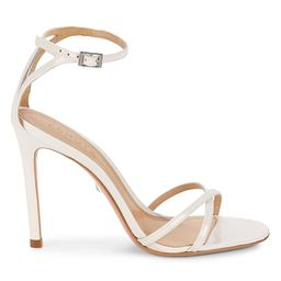 Schutz Women's Marnie Leather Heeled Sandals - White - Size 5.5 | Saks Fifth Avenue OFF 5TH