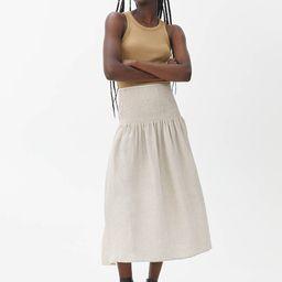 Smocked Linen Skirt                         €79 | ARKET