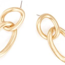 BIJOUX Gold Plated Brass Satin Finish Vintage Chain Link Drop & Dangle Earrings for Women and Gir...   Amazon (US)