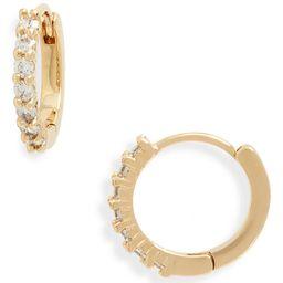 Crystal Huggie Hoop Earrings | Nordstrom