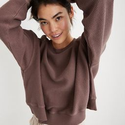 Aerie New Love Corded Cropped Crew Sweatshirt | American Eagle Outfitters (US & CA)