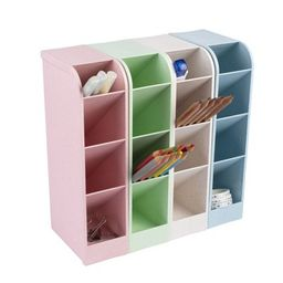 4-Pack Pen Organizer for Desk, Wheat Straw Pencil Storage for Office Home, Assorted Colors   Target