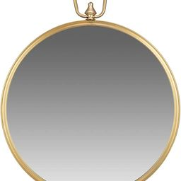 Gold Round Wall Mirror with Decorative Handle | Amazon (US)