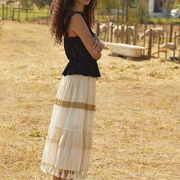 Raffaella Tasseled Midi Skirt   Anthropologie (US)