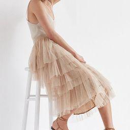 Flounced Tulle Midi Skirt   Anthropologie (US)