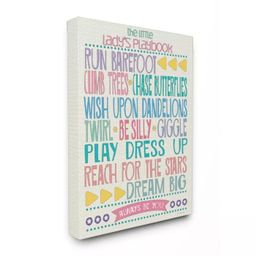 """Typography Art Wall Plaque The Little Lady's Playbook Stretched Canvas Wall Art (16""""x20""""x1.5) - S...   Target"""