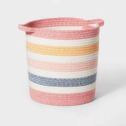 Multi Stripe Coiled Rope Storage Bin - Pillowfort™   Target