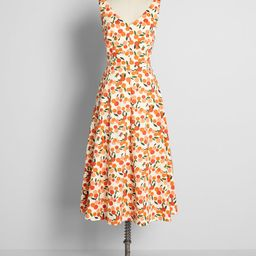 Margot Midi Dress Mini Summer Oranges | ModCloth