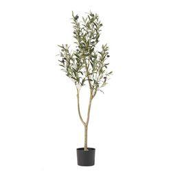 Atoka 4' x 1.5' Artificial Olive Tree, Green   Walmart (US)