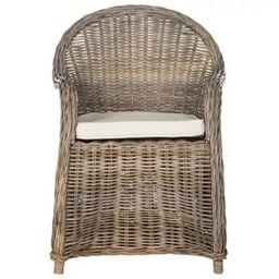 Zane Wicker Club Chair Gray - Safavieh | Target