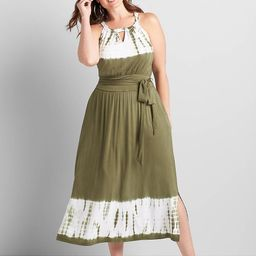 Halter-Neck Midi Dress | Lane Bryant (US)