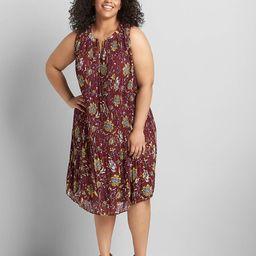 Tie Notch Neck A-Line Dress | Lane Bryant (US)