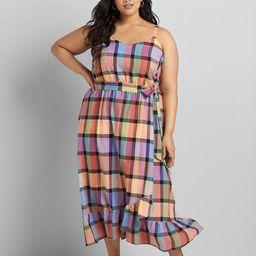 Sleeveless Cami Plaid Midi Dress | Lane Bryant (US)