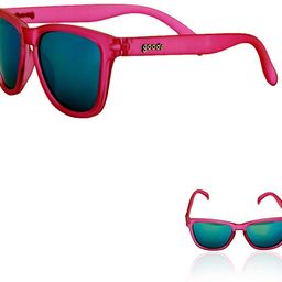 goodr OG Sunglasses (no slip, no bounce, all polarized) (Flamingos On A Booze Cruise, Teal)   Amazon (US)