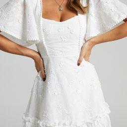 Fancy A Spritz Dress in White Embroidery | Showpo