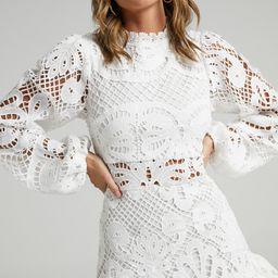 Kiss Me Now Dress in White Lace | Showpo