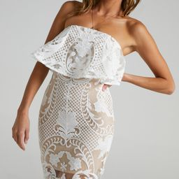 Senorita Dress in White Lace | Showpo