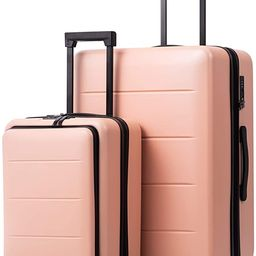 COOLIFE Luggage Suitcase Piece Set Carry On ABS+PC Spinner Trolley with pocket Compartmnet Weeken... | Amazon (US)