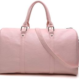 Overnight Travel Tote Bag Women Weekend Duffle Bags Faux Leather Over Shoulder Handbags for Carry... | Amazon (US)