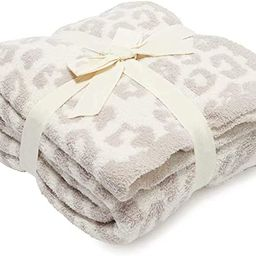 Soft Fuzzy Throw Blanket, Cozy Plush Fleece Comfy Microfiber Blanket for Couch Sofa Bed,Stone/Cre... | Amazon (US)