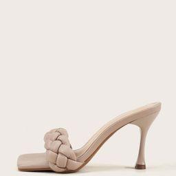 Braided Stiletto Heeled Mules | SHEIN