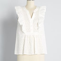 Rodeo Doll Eyelet Embroidered Blouse | ModCloth
