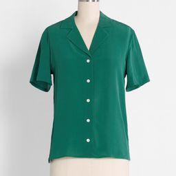 Call It a Classic Silk Camp Collar Shirt | ModCloth