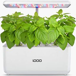 iDOO Hydroponics Growing System, Indoor Garden Starter Kit with LED Grow Light, Automatic Timer G... | Amazon (US)
