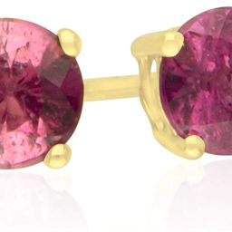 Gin & Grace 14K Yellow Gold Stud Earring with Raspberry color Genuine Pink Tourmaline Daily Work ... | Amazon (US)