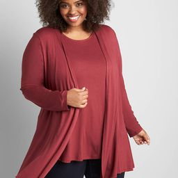 Open-Front Fit & Flare Overpiece | Lane Bryant (US)