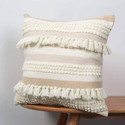 blue page Boho Striped Decorative Throw Pillow Cover 18x18 Inch, Home Decor Square Cozy Cushion C... | Amazon (US)