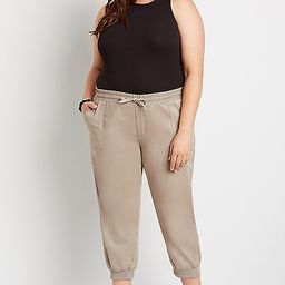 Plus Size Tan Cropped Weekender Jogger Pant | Maurices