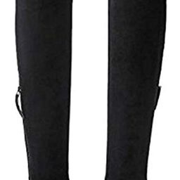 Thigh High Block Heel Boot Women Pointed Toe Stretch Over The Knee Boots | Amazon (US)