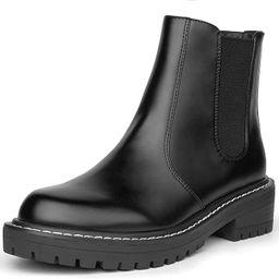 ICHIGO Women's Chelsea Boots Slip On Ankle Boots Chunky Low Heel Classic Elastic Booties | Amazon (US)