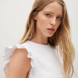 Frills cotton t-shirt | MANGO (US)