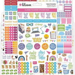 bloom daily planners Newly Improved Classic Planner Sticker Sheets - Variety Sticker Pack for Dec... | Amazon (US)