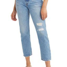 501® Distressed Crop Jeans | Nordstrom | Nordstrom